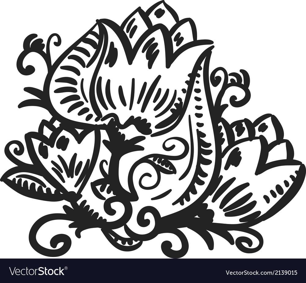 Design element floral vector | Price: 1 Credit (USD $1)