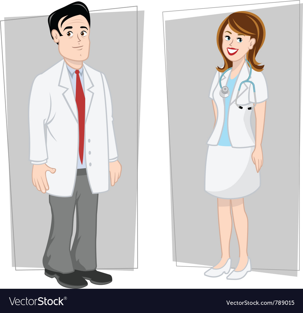 Doctors male female vector | Price: 3 Credit (USD $3)