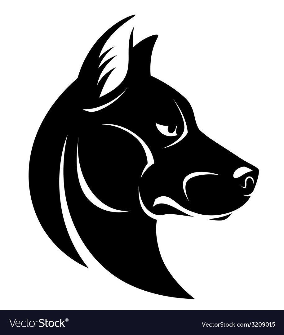 Dog head symbol vector | Price: 1 Credit (USD $1)
