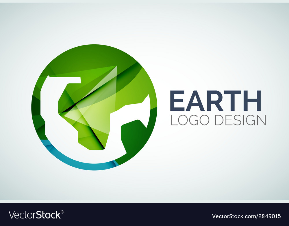 Earth logo design made of color pieces vector | Price: 1 Credit (USD $1)