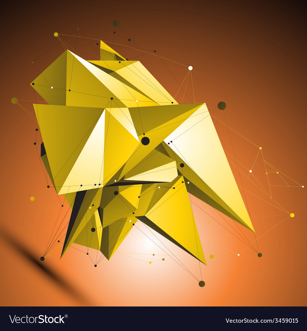 Gold spatial technological shape polygonal vector   Price: 1 Credit (USD $1)