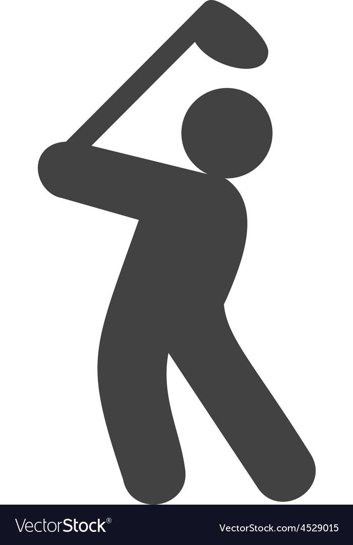Golf player vector | Price: 1 Credit (USD $1)