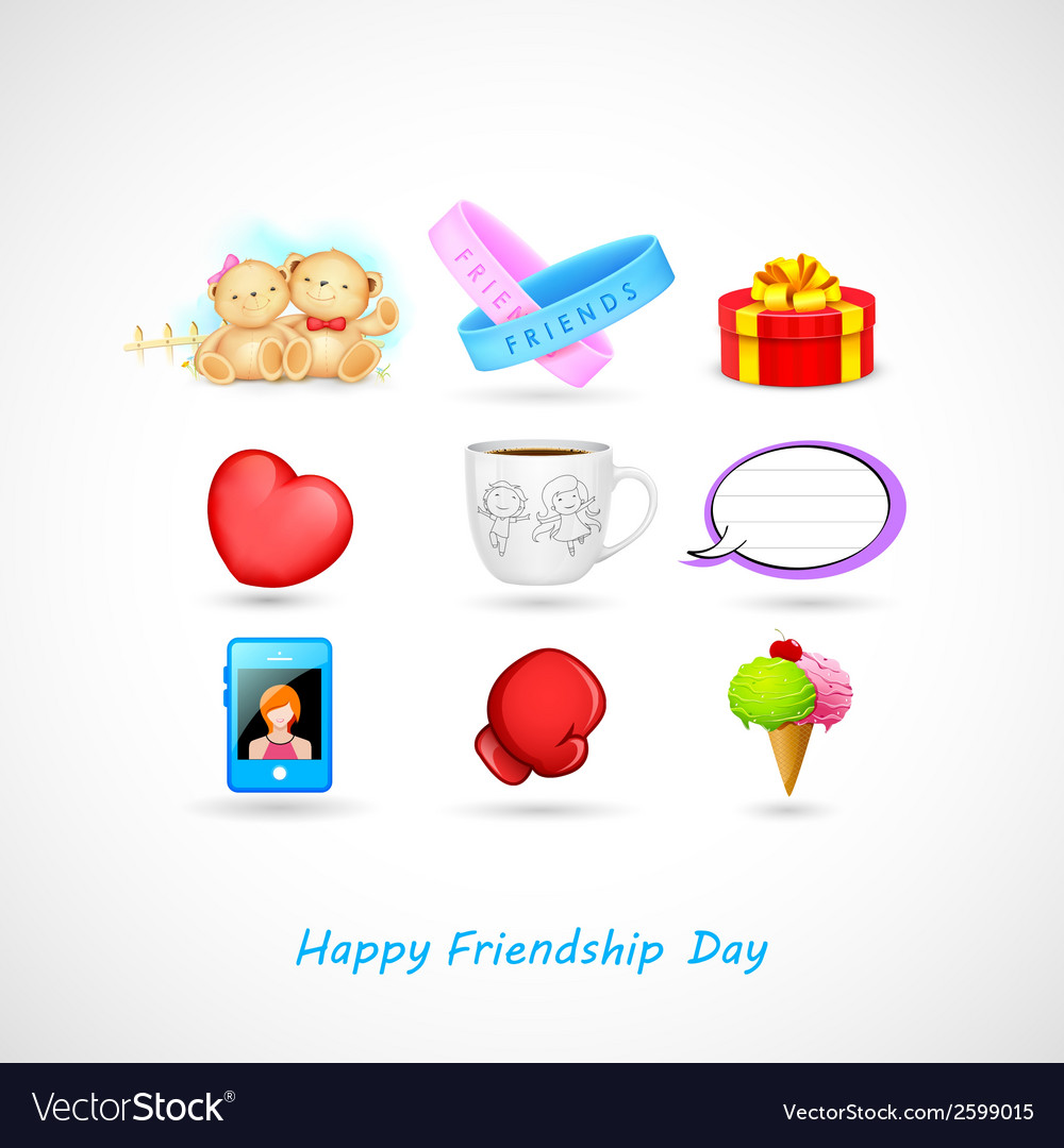 Happy friendship day vector | Price: 1 Credit (USD $1)