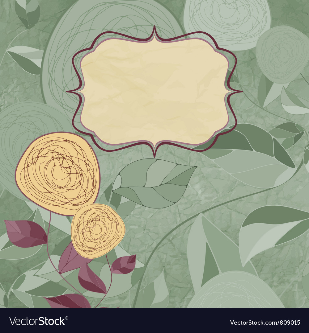 Vintage roses card vector | Price: 1 Credit (USD $1)