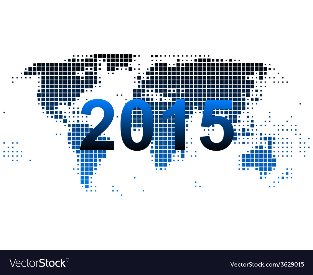 World map 2015 vector | Price: 1 Credit (USD $1)