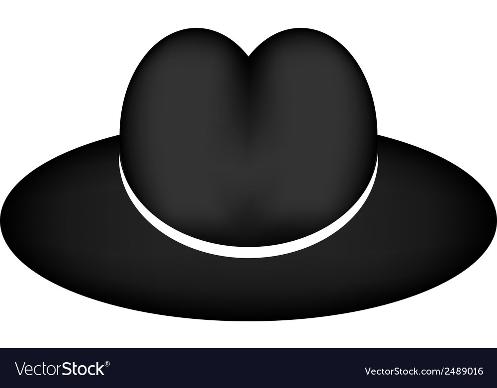 Black hat vector | Price: 1 Credit (USD $1)