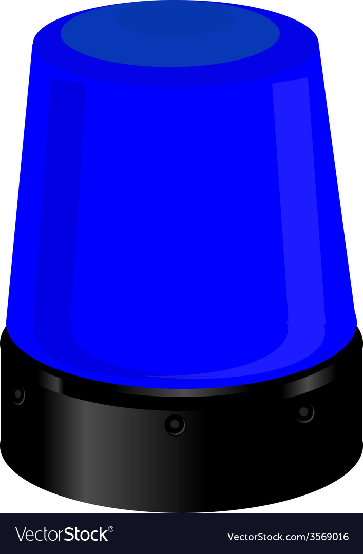 Blue police light vector | Price: 1 Credit (USD $1)