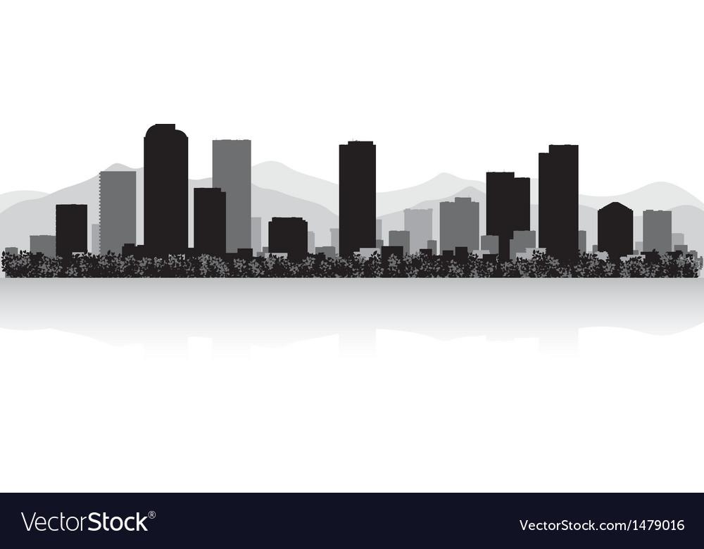Denver usa city skyline silhouette vector | Price: 1 Credit (USD $1)