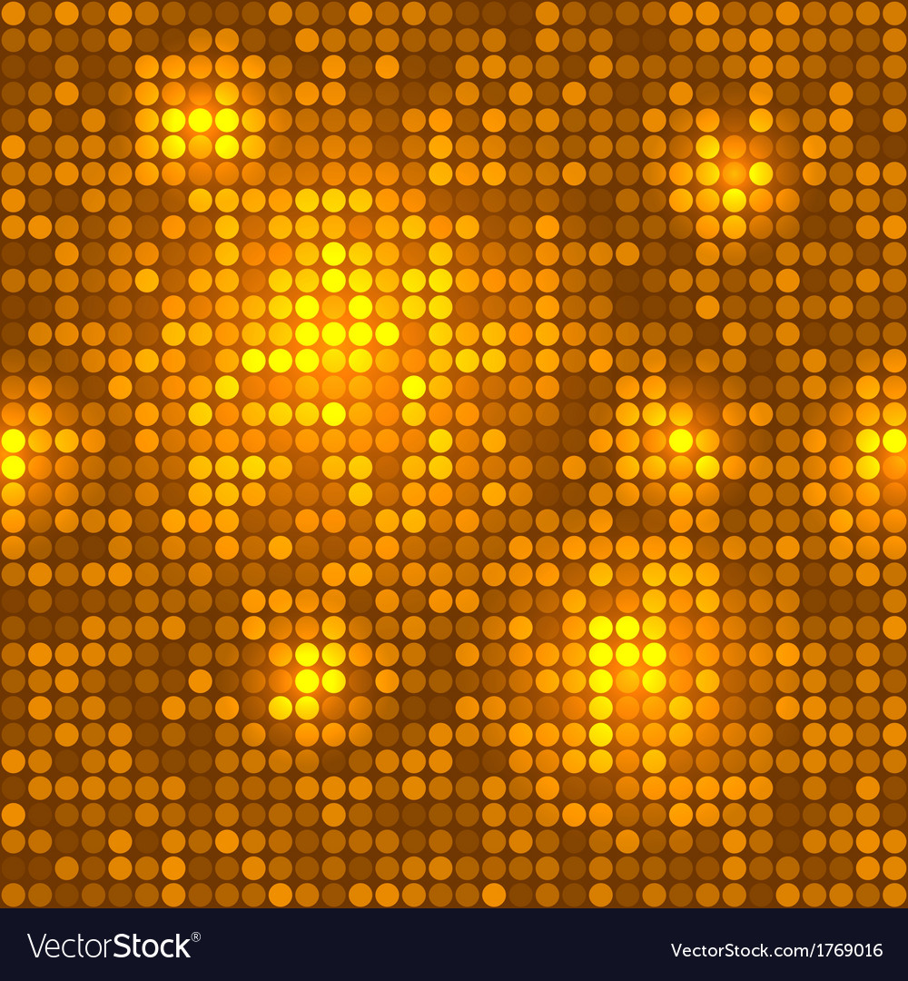 Disco golden background seamless pattern vector | Price: 1 Credit (USD $1)