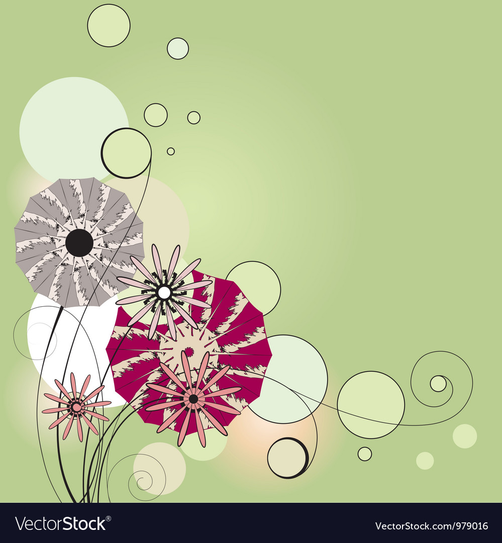 Flowers the vignette vector | Price: 1 Credit (USD $1)