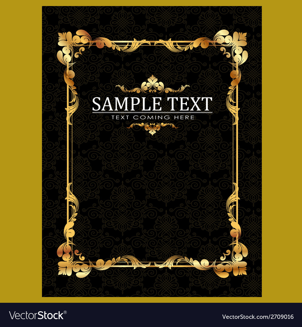 Gold frames template vector | Price: 1 Credit (USD $1)