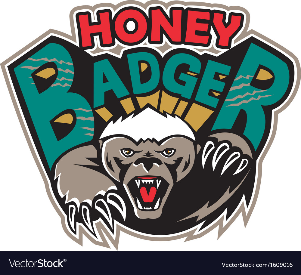 Honey badger mascot front vector | Price: 1 Credit (USD $1)