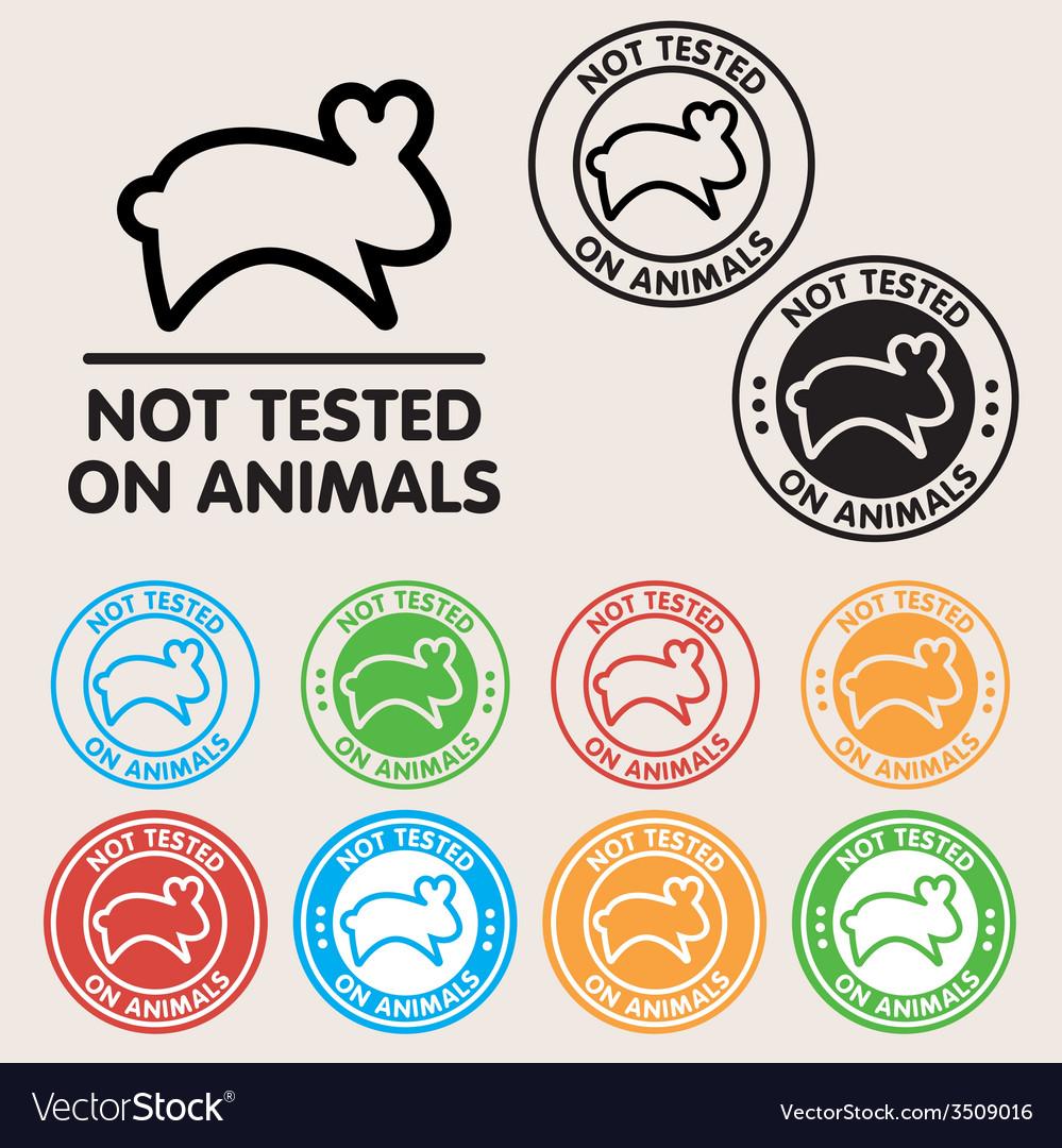 No animals testing sign icon vector | Price: 1 Credit (USD $1)
