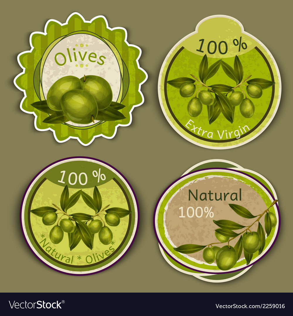 Olive oil labels vector | Price: 1 Credit (USD $1)