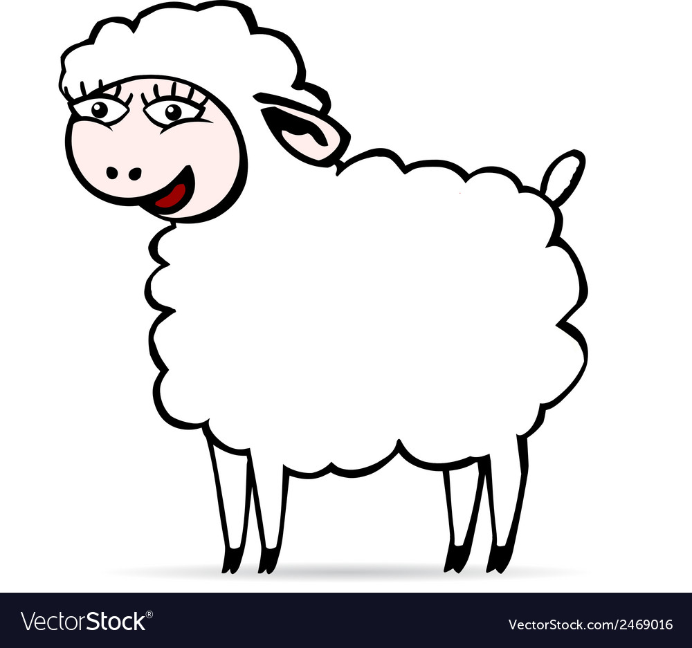 Sheep smiling vector | Price: 1 Credit (USD $1)