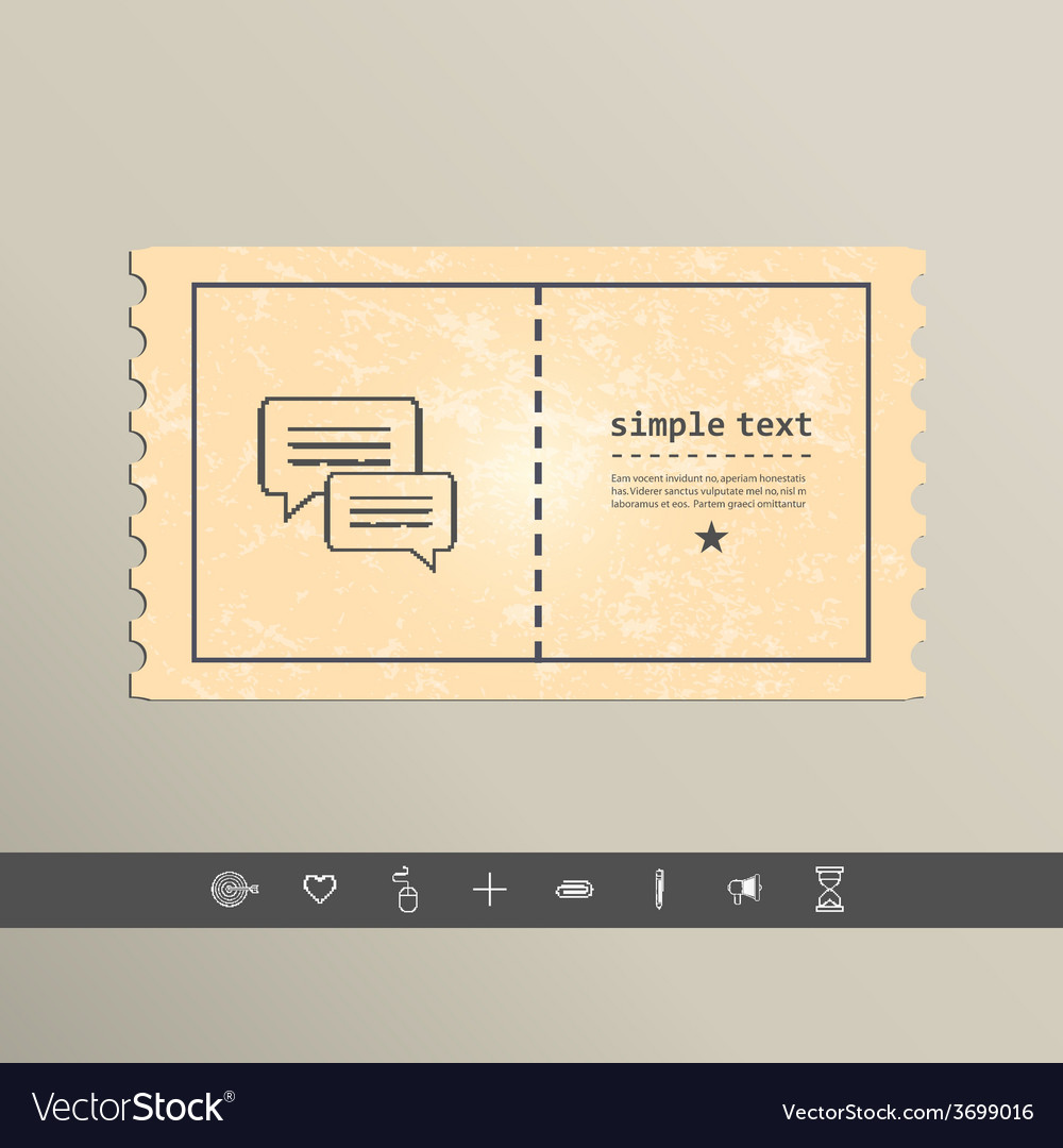 Simple pixel icon dialog messages design vector | Price: 1 Credit (USD $1)