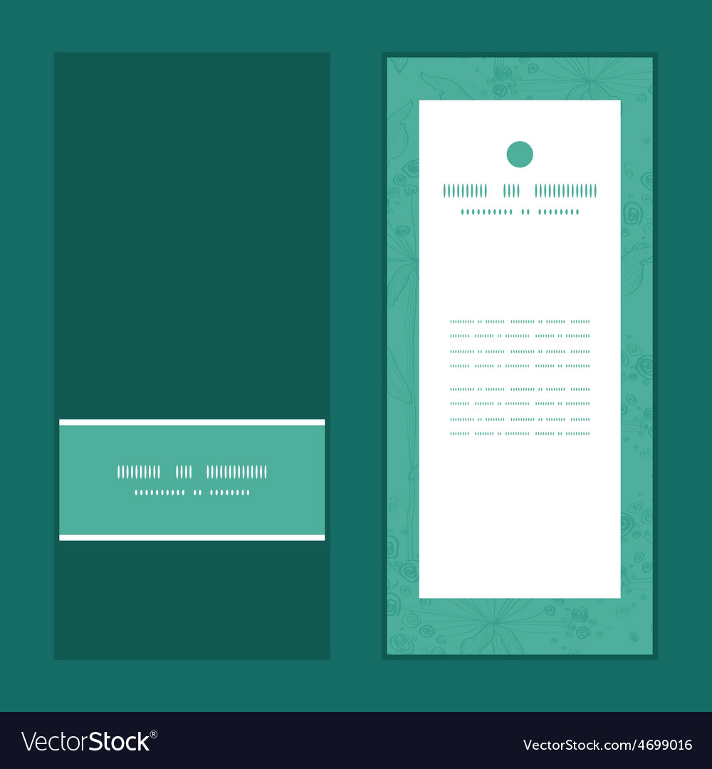 Summer line art dandelions vertical frame vector | Price: 1 Credit (USD $1)