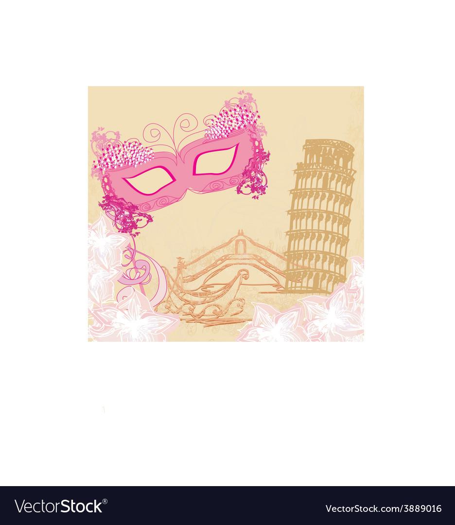 Symbols italians - the carnival mask venice vector | Price: 1 Credit (USD $1)