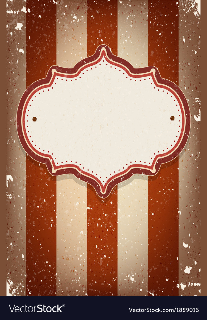 Vintage circus inspired frame vector | Price: 1 Credit (USD $1)