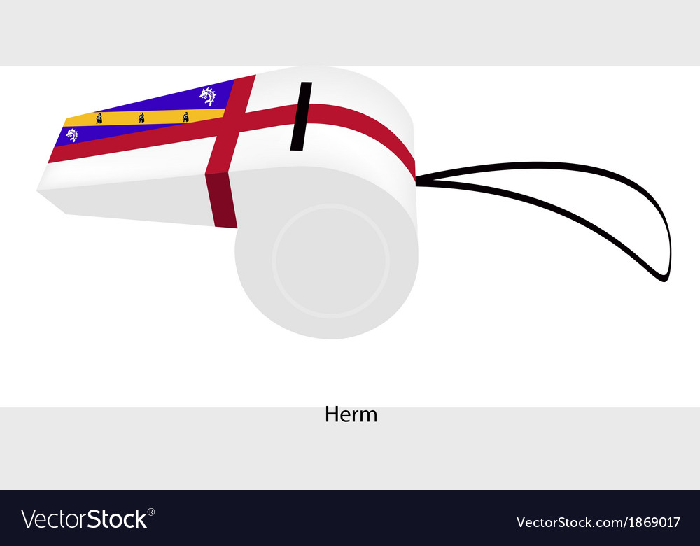 A red and white whistle of herm vector | Price: 1 Credit (USD $1)
