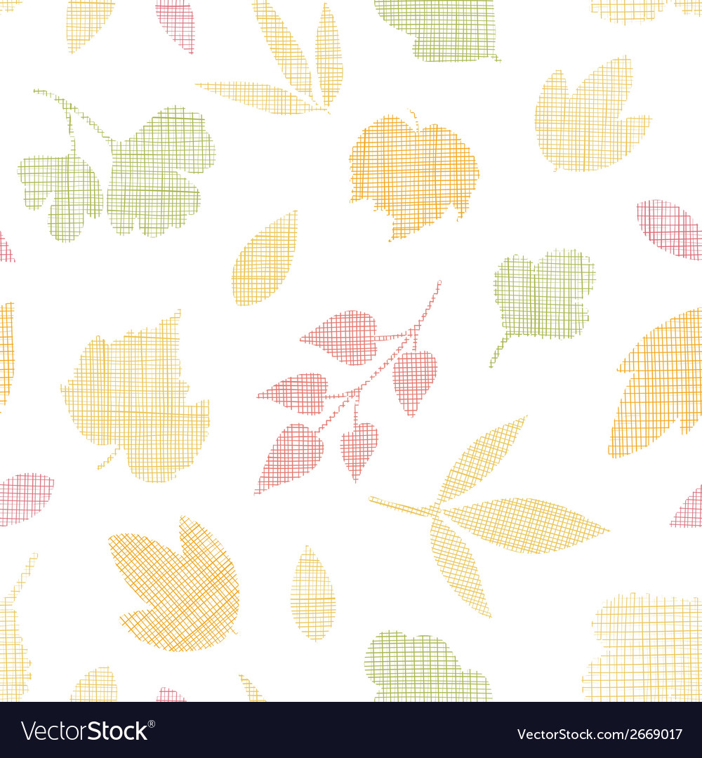 Abstract textile texture fall leaves seamless vector | Price: 1 Credit (USD $1)
