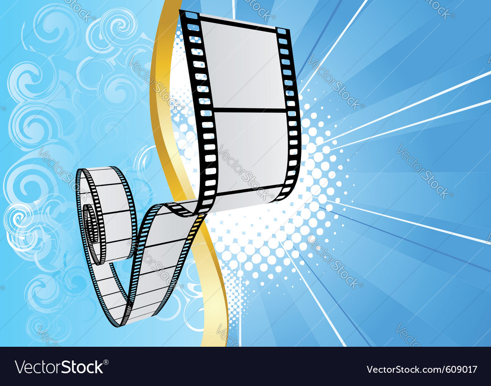 Blue background with film vector | Price: 1 Credit (USD $1)
