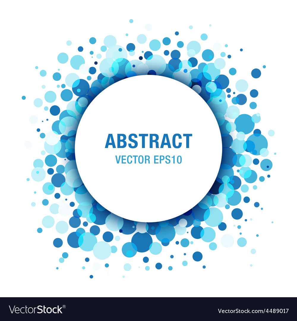 Blue light abstract circle frame design element vector | Price: 1 Credit (USD $1)