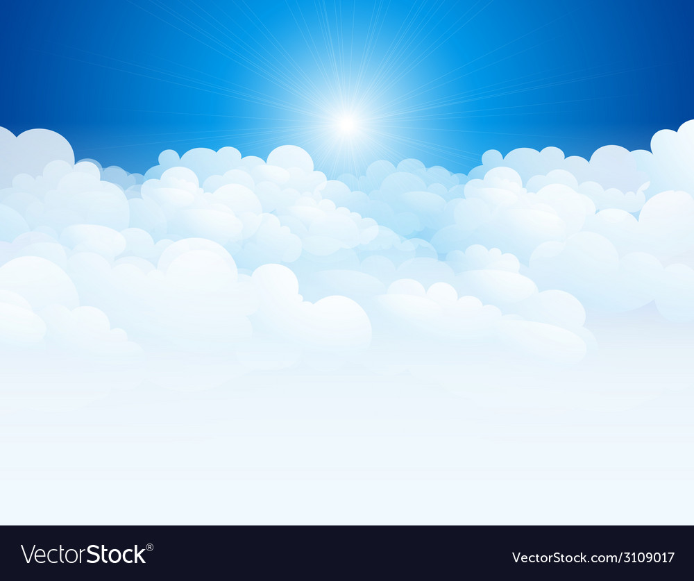 Blue sky background vector | Price: 1 Credit (USD $1)