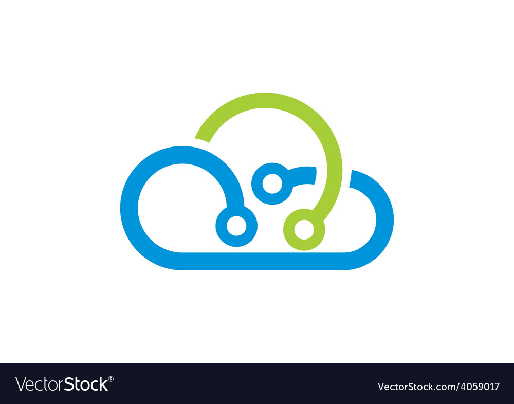 Cloud abstract technology logo vector | Price: 1 Credit (USD $1)