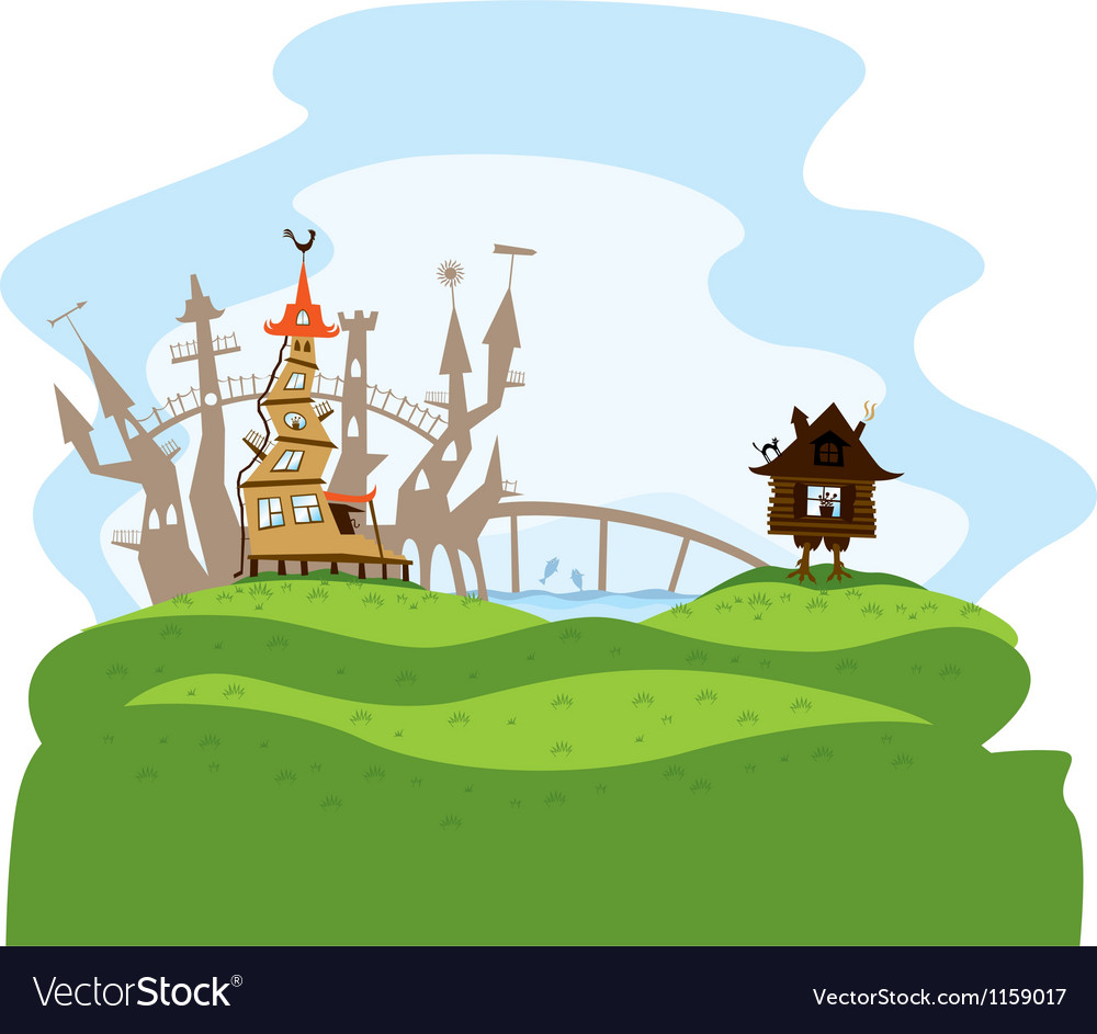 Fairytale city vector | Price: 1 Credit (USD $1)