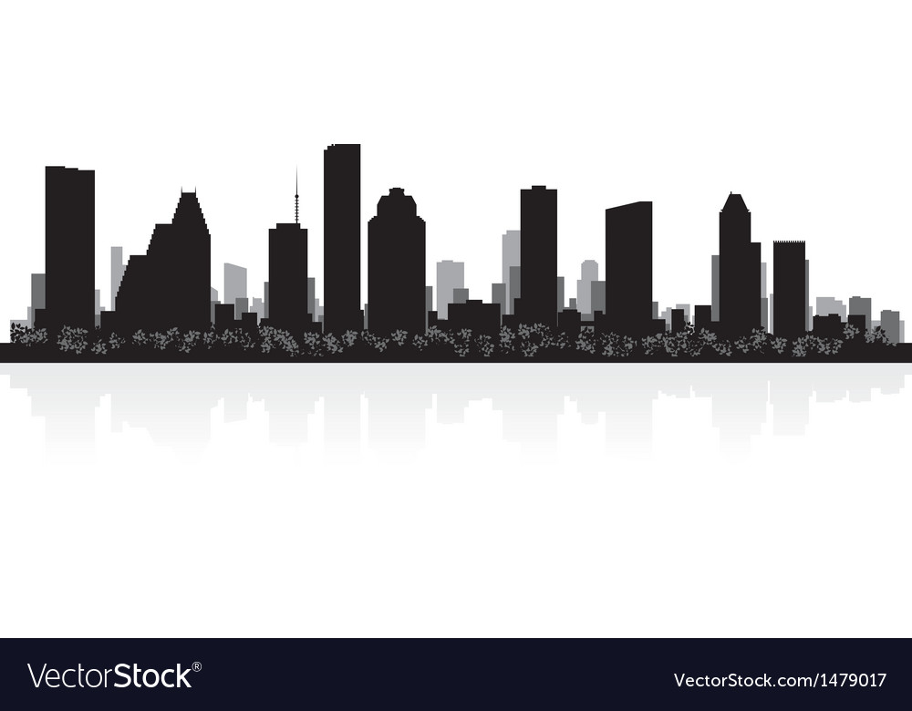 Houston usa city skyline silhouette vector | Price: 1 Credit (USD $1)
