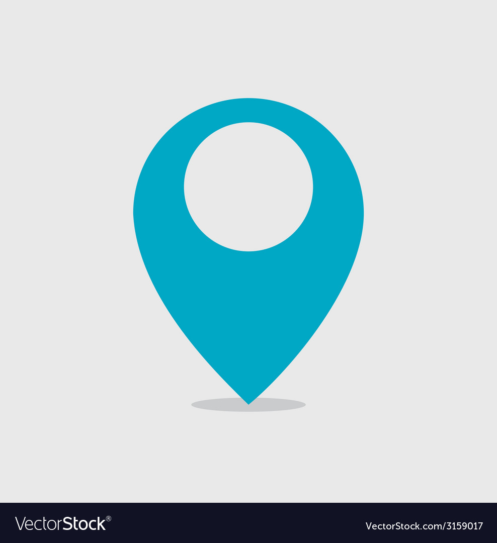 Mapping pin icon vector