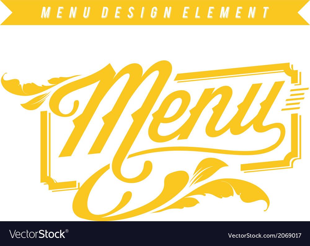 Menu design element vector | Price: 1 Credit (USD $1)