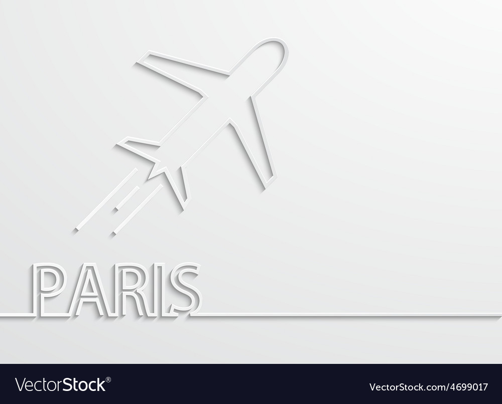 Modern paris capital background vector | Price: 1 Credit (USD $1)