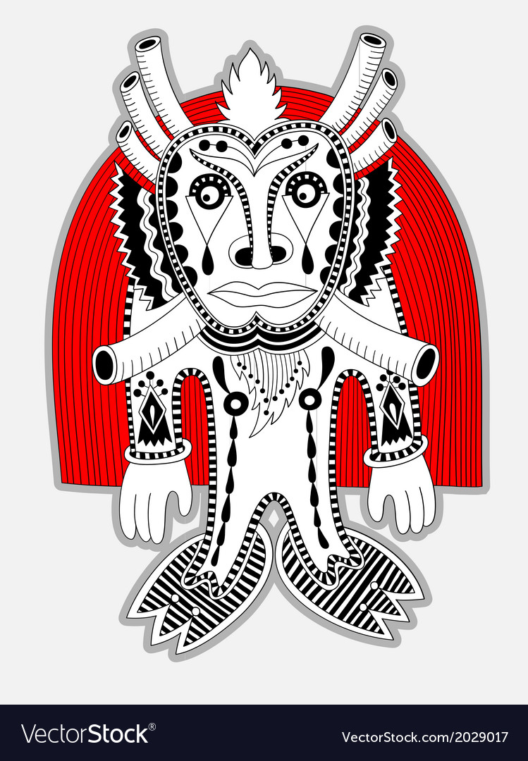 Ornate doodle fantasy monster personage vector | Price: 1 Credit (USD $1)