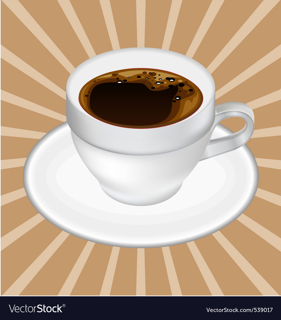Realistic coffee cup vector | Price: 1 Credit (USD $1)