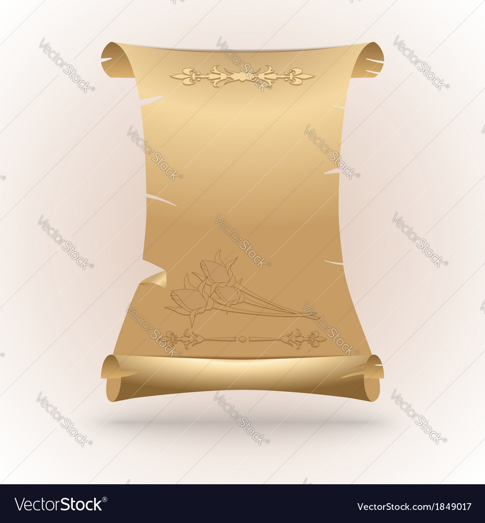 Scroll of paper vector | Price: 1 Credit (USD $1)