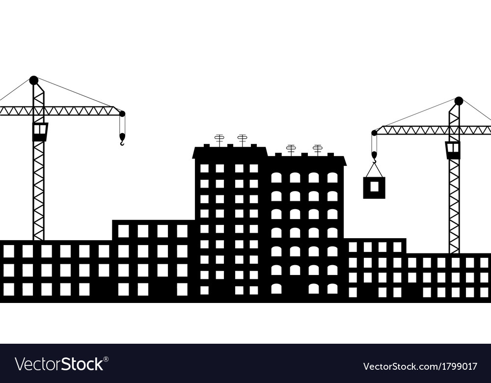 Silhouette the construction of city vector | Price: 1 Credit (USD $1)