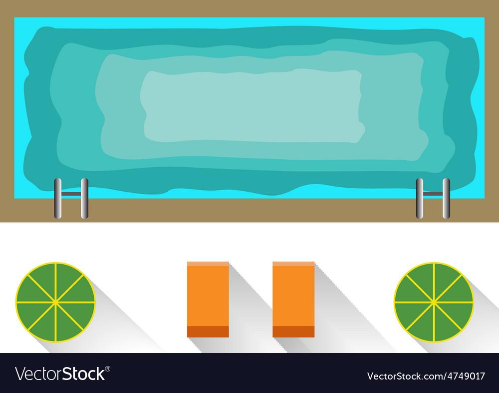Swimming pool vector | Price: 1 Credit (USD $1)