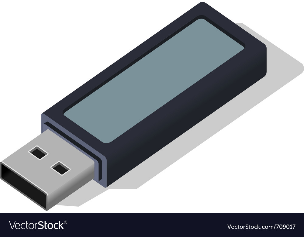 Usb data flash drive vector | Price: 3 Credit (USD $3)