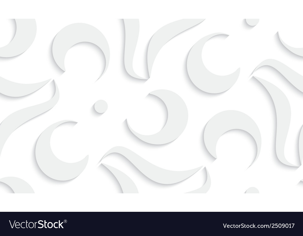 White seamless geometric pattern vector | Price: 1 Credit (USD $1)