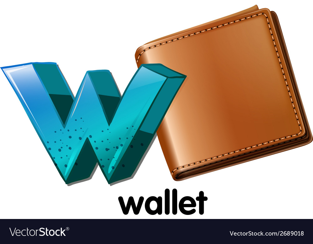 A wallet vector | Price: 1 Credit (USD $1)