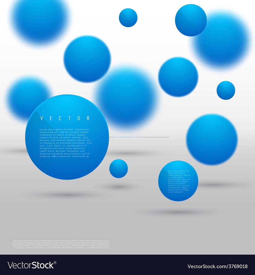 Abstract geometric shape from blue circles vector | Price: 1 Credit (USD $1)