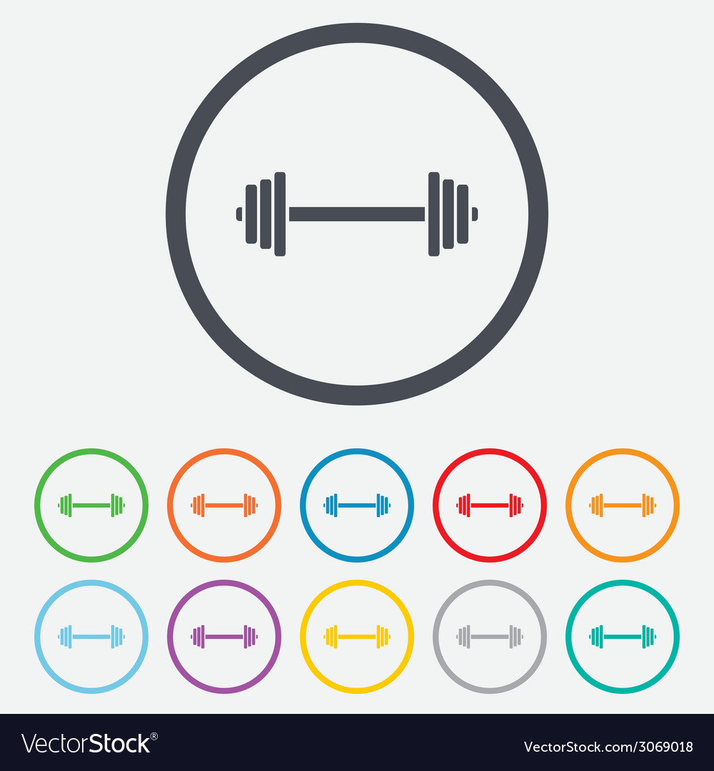 Barbell sign icon muscle lifting symbol vector | Price: 1 Credit (USD $1)