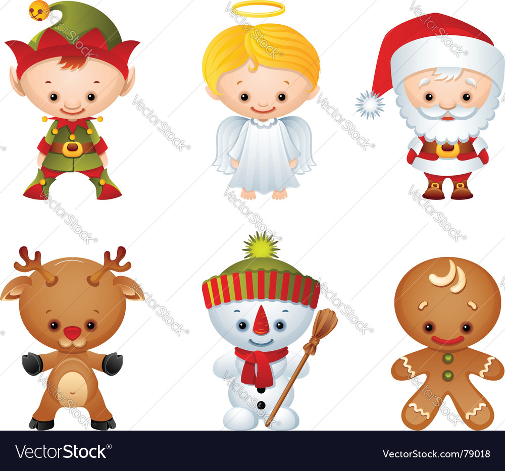 Christmas characters vector | Price: 3 Credit (USD $3)