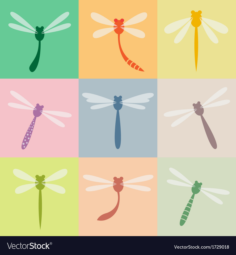 Dragonfly group vector | Price: 1 Credit (USD $1)
