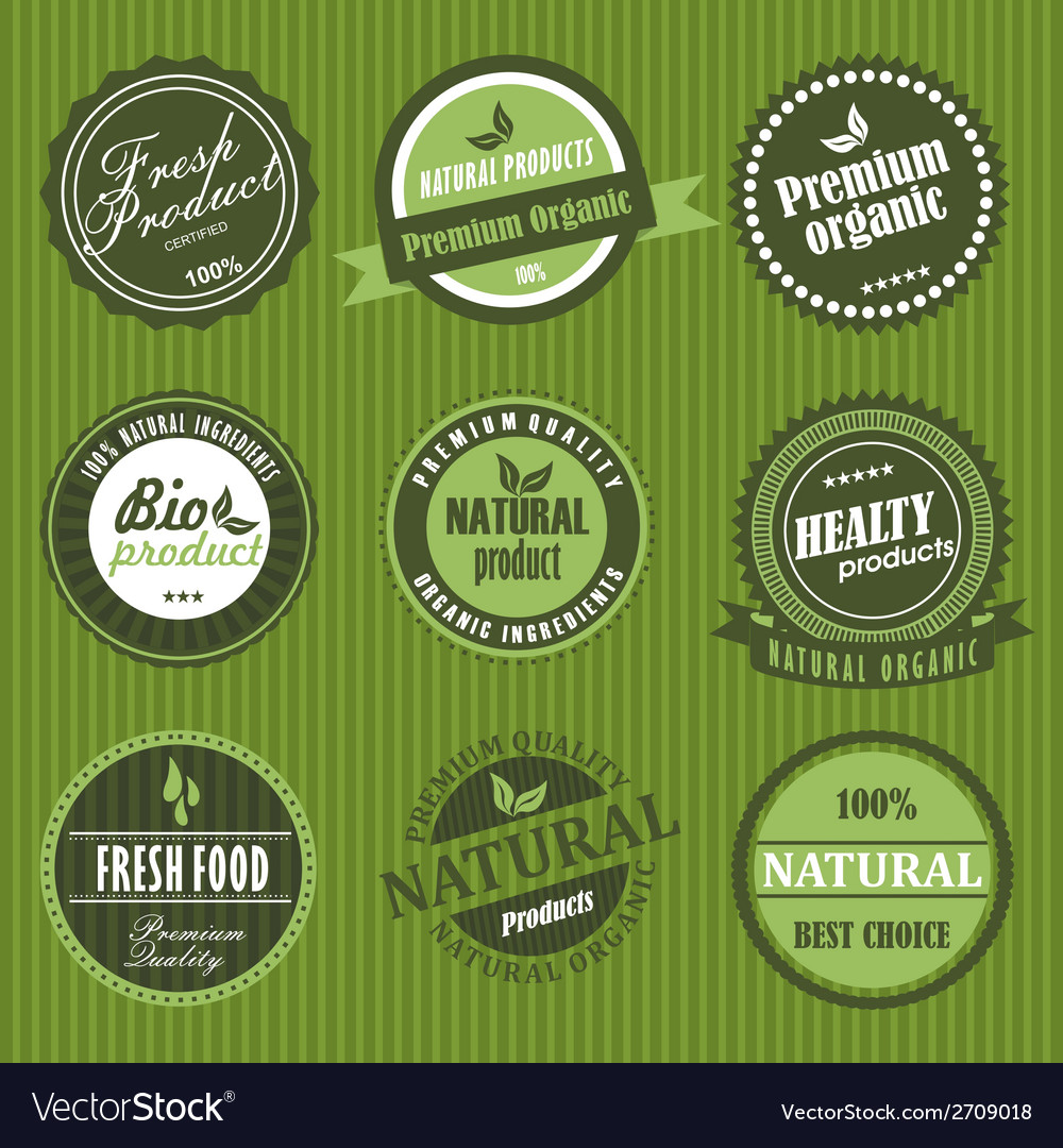 Fresh product label vector | Price: 1 Credit (USD $1)