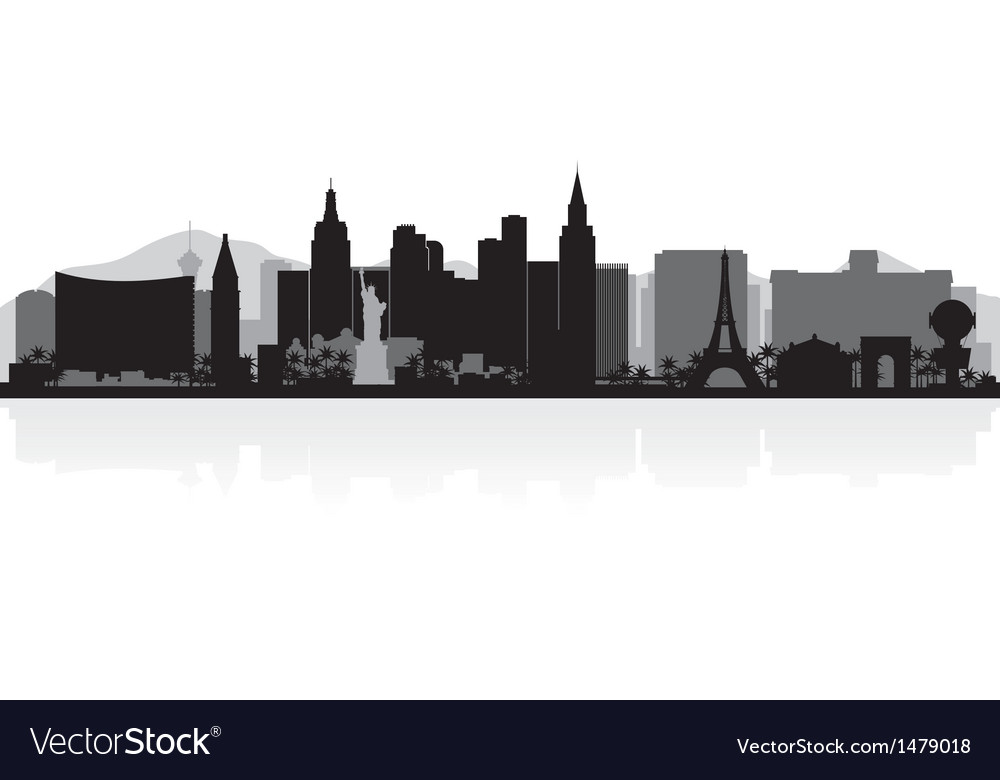 Las vegas usa city skyline silhouette vector | Price: 1 Credit (USD $1)