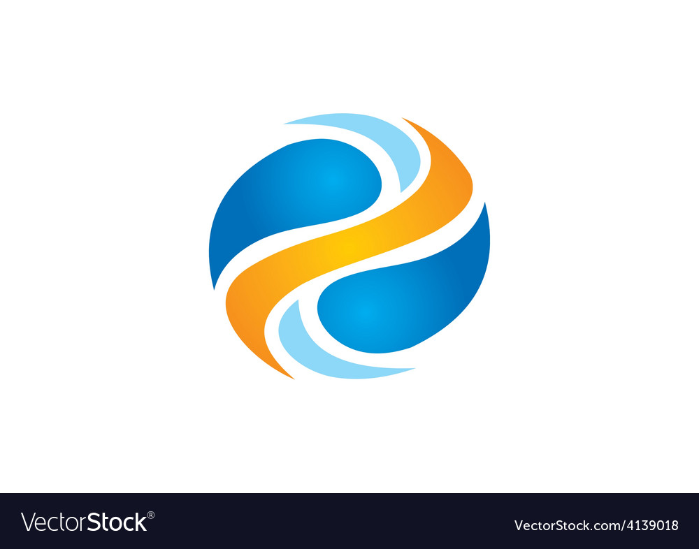 Round swirl logo vector | Price: 1 Credit (USD $1)