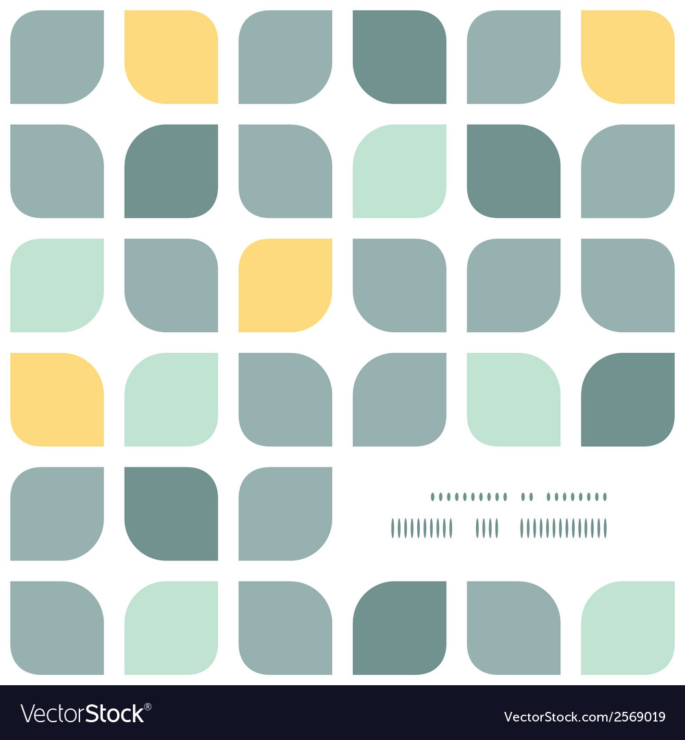 Abstract gray yellow rounded squares frame corner vector | Price: 1 Credit (USD $1)
